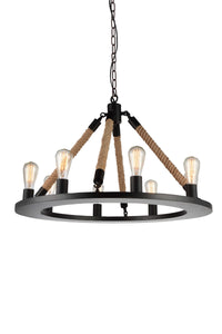 8 Light Up Chandelier with Black finish