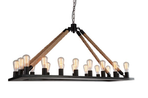 18 Light Up Chandelier with Black finish
