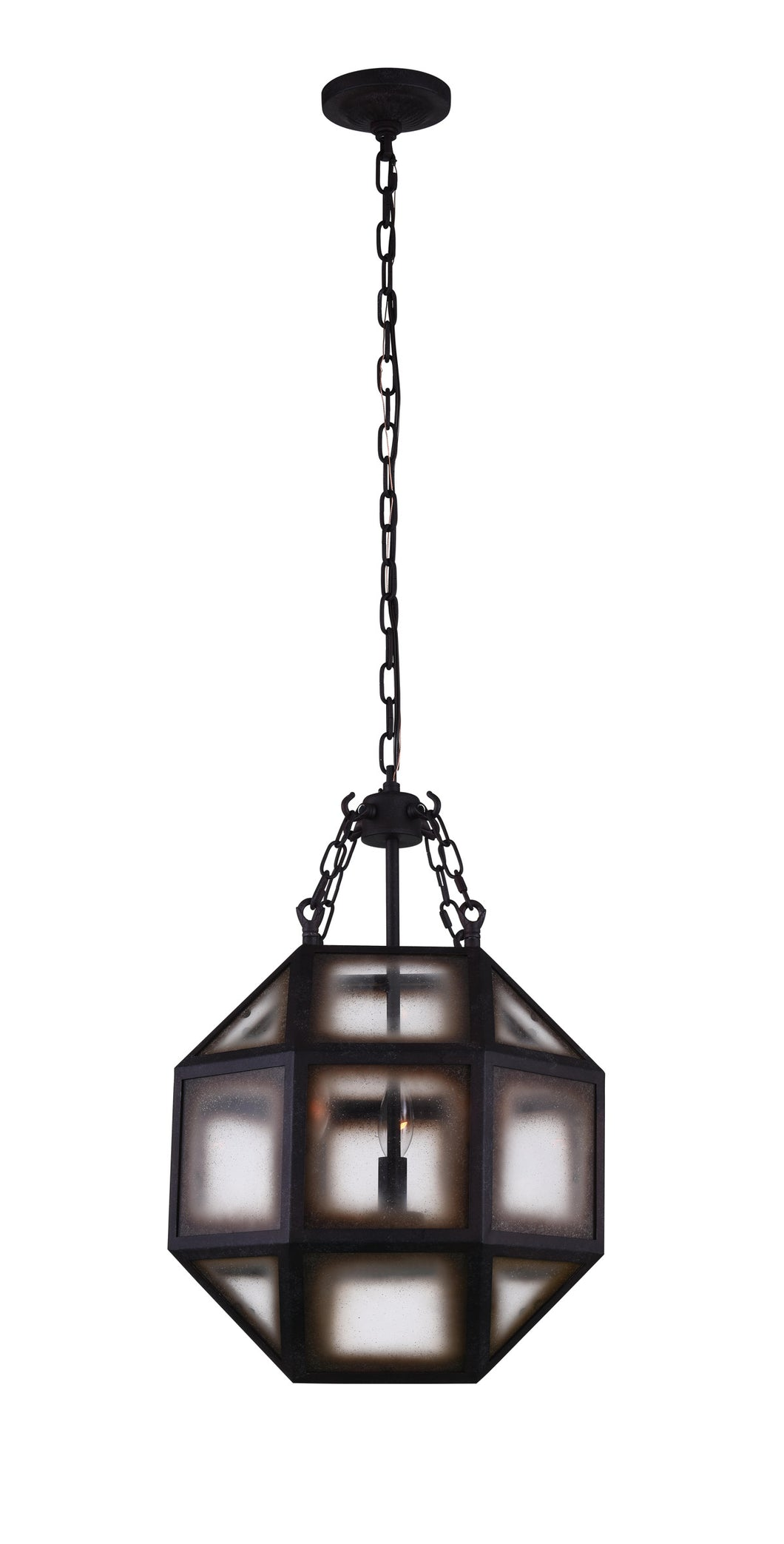 3 Light  Pendant with Rust finish