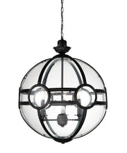 Load image into Gallery viewer, 3 Light  Pendant with Black finish