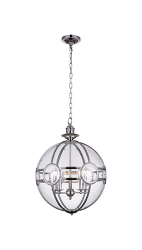 5 Light  Pendant with Chrome finish