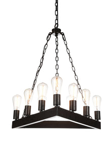 9 Light Up Chandelier with Rust finish