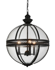 3 Light Up Chandelier with Black finish