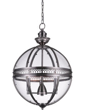 Load image into Gallery viewer, 3 Light Up Chandelier with Satin Nickel finish