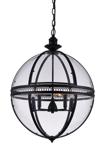 5 Light Up Chandelier with Black finish