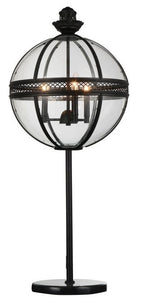 3 Light Table Lamp with Black finish