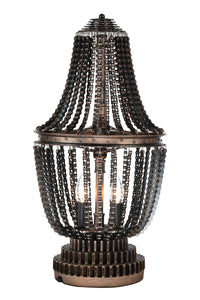 2 Light Table Lamp with Antique Bronze finish