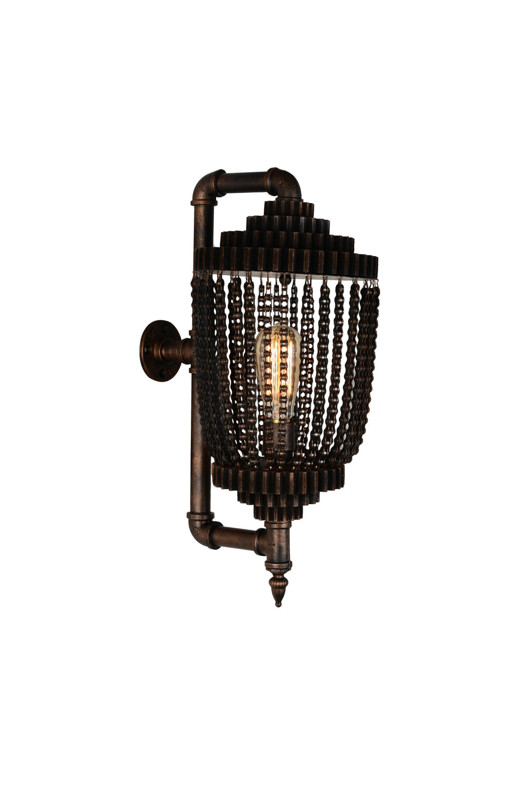 1 Light Wall Sconce with Speckled copper finish