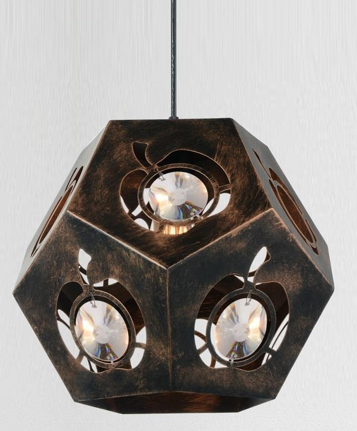 1 Light  Chandelier with Blackened Bronze finish