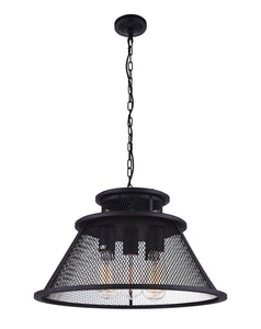 5 Light Down Chandelier with Reddish Black finish