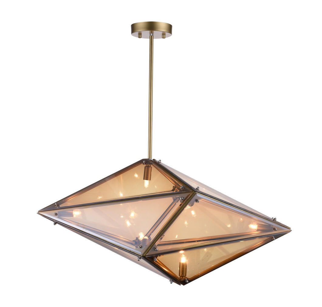 8 Light  Pendant with Champagne finish