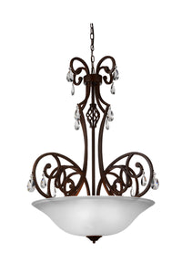 5 Light Candle Chandelier with Dark Bronze finish