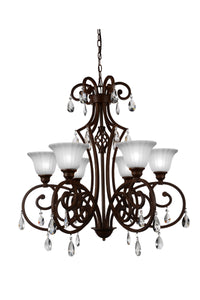6 Light Candle Chandelier with Dark Bronze finish