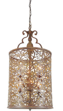 Load image into Gallery viewer, 6 Light Drum Shade Chandelier with Brushed Chocolate finish