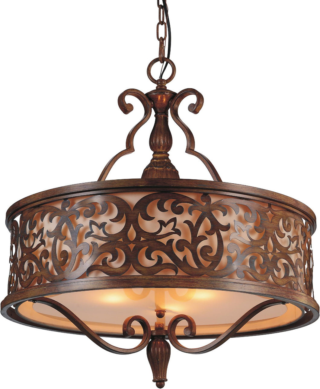 5 Light Drum Shade Chandelier with Brushed Chocolate finish