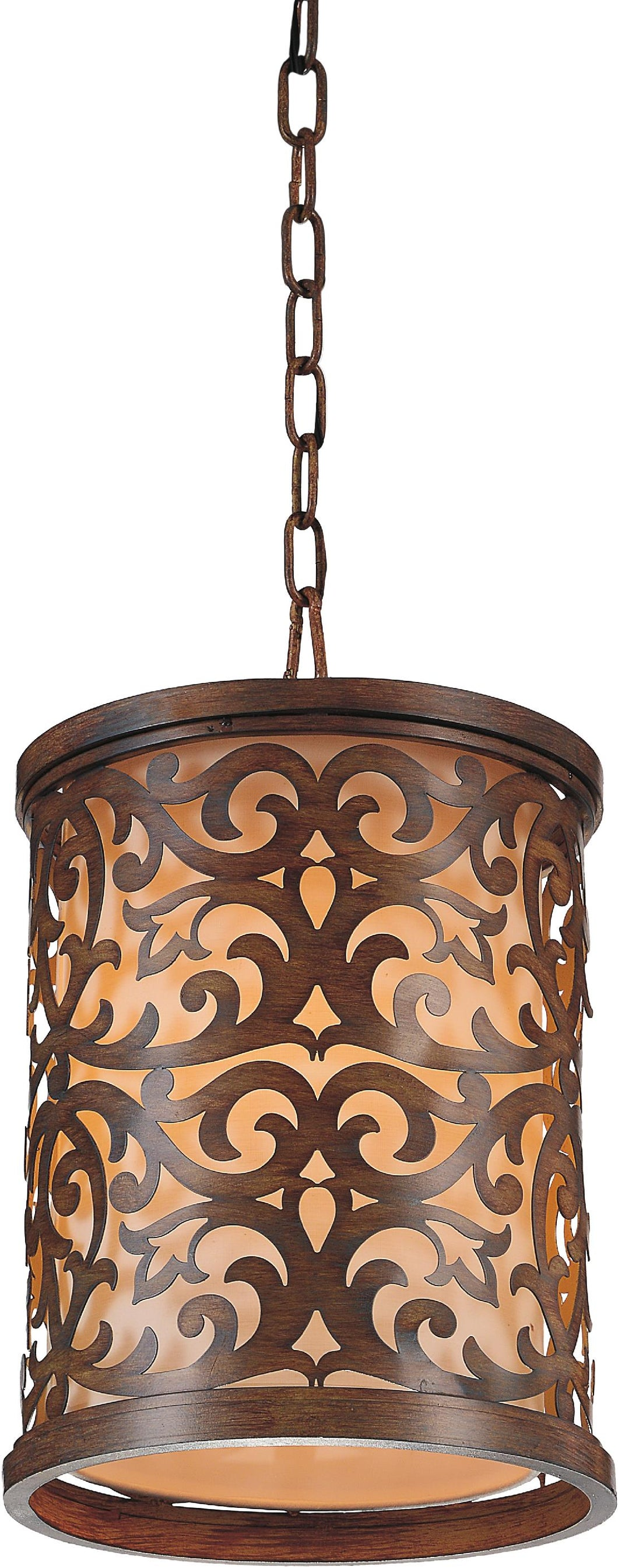 1 Light Drum Shade Mini Pendant with Brushed Chocolate finish