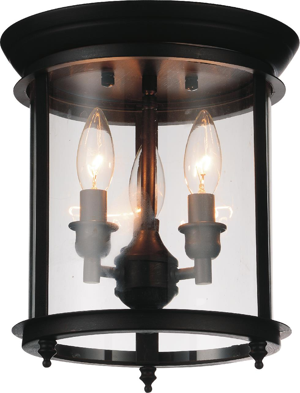 3 Light Cage Flush Mount with Oil Rubbed Bronze finish