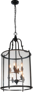 8 Light Drum Shade Chandelier with Oil Rubbed Bronze finish