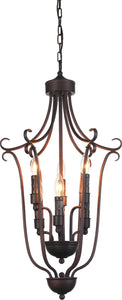 6 Light Up Chandelier with Oil Rubbed Brown finish