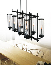 Load image into Gallery viewer, 8 Light Up Chandelier with Black finish