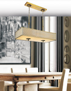 6 Light Drum Shade Chandelier with French Gold finish