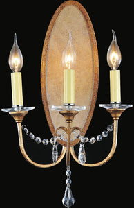 3 Light Wall Sconce with Oxidized Bronze finish