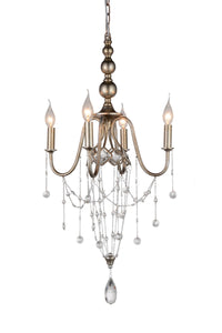 4 Light Up Chandelier with Speckled Nickel finish
