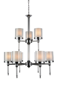 9 Light Candle Chandelier with Chrome finish