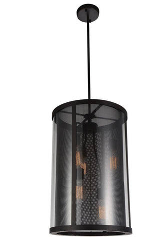 5 Light Down Pendant with Reddish Brown finish