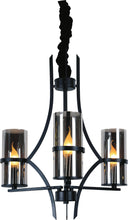 Load image into Gallery viewer, 3 Light Up Chandelier with Black finish