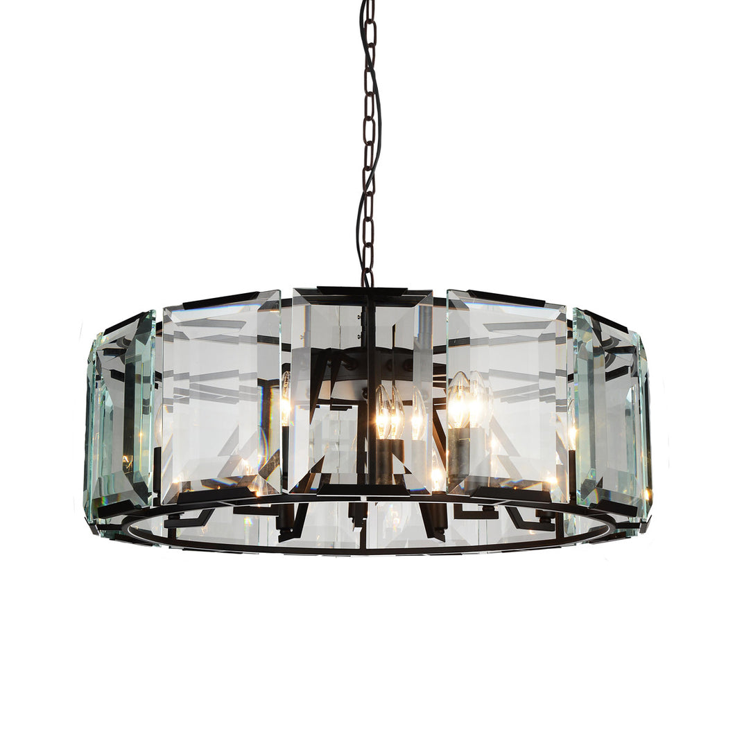 18 Light  Chandelier with Black finish