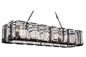 14 Light  Chandelier with Black finish