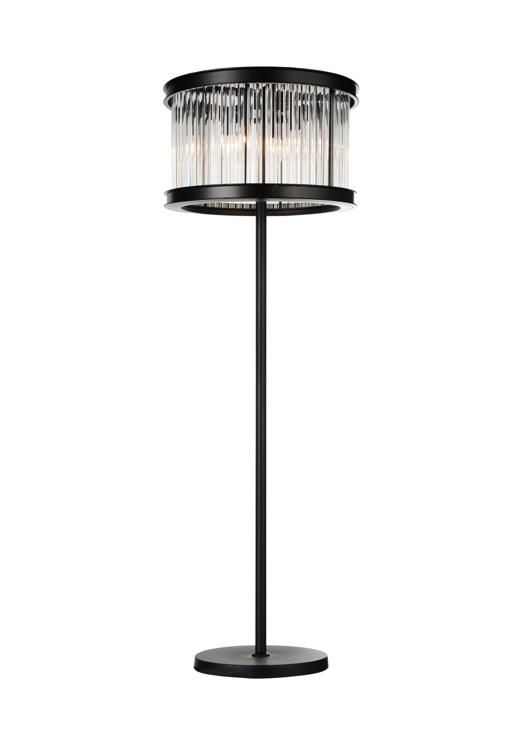 6 Light Floor Lamp with Black finish