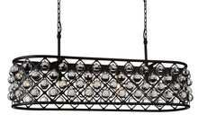 Load image into Gallery viewer, 6 Light  Chandelier with Black finish