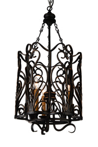 3 Light Up Chandelier with Autumn Bronze finish