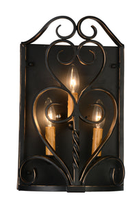 3 Light Wall Sconce with Autumn Bronze finish