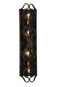 4 Light Wall Sconce with Autumn Bronze finish