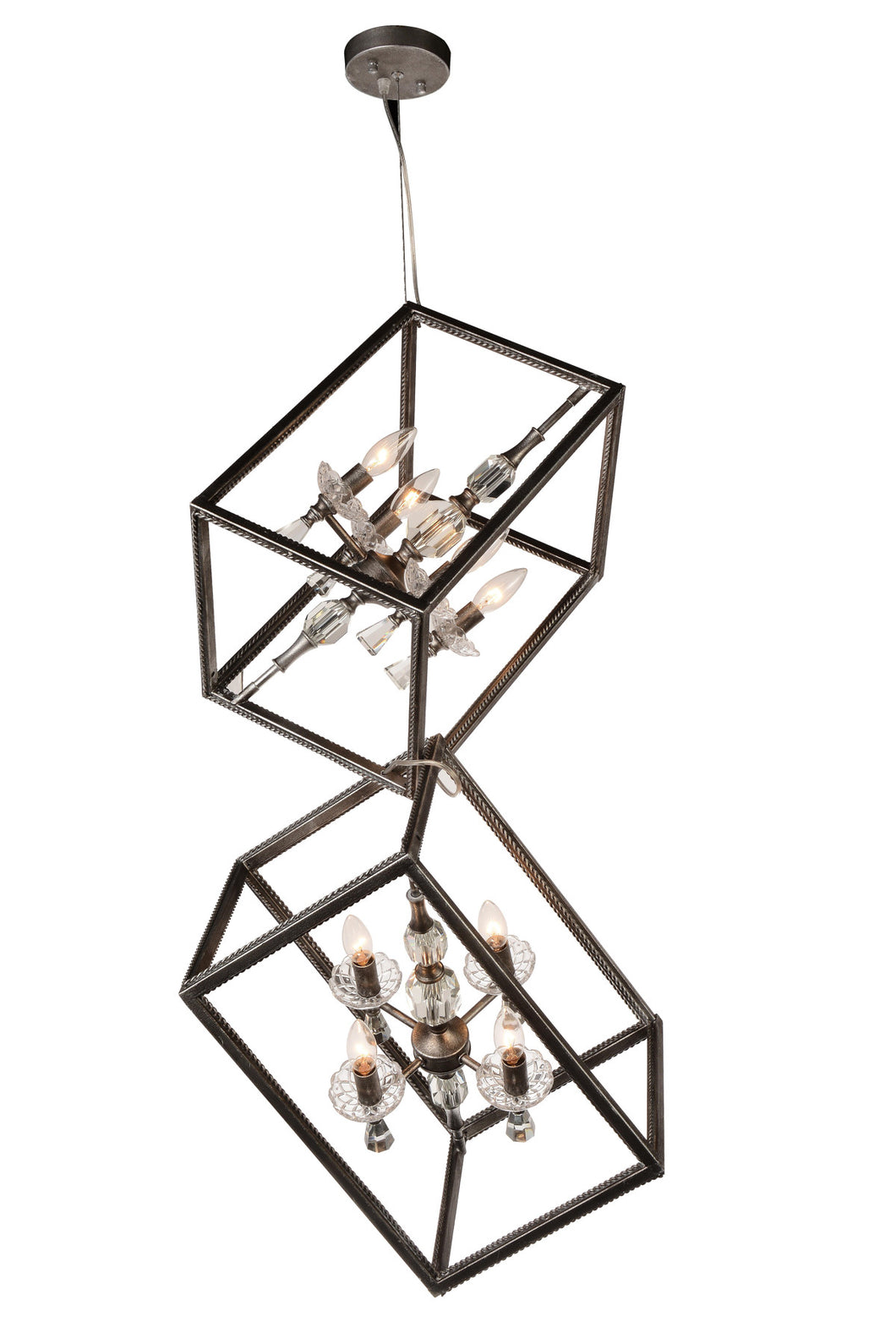 8 Light Up Mini Chandelier with Luxor Silver finish