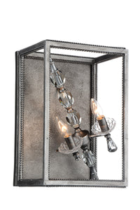 2 Light Wall Sconce with Luxor Silver finish