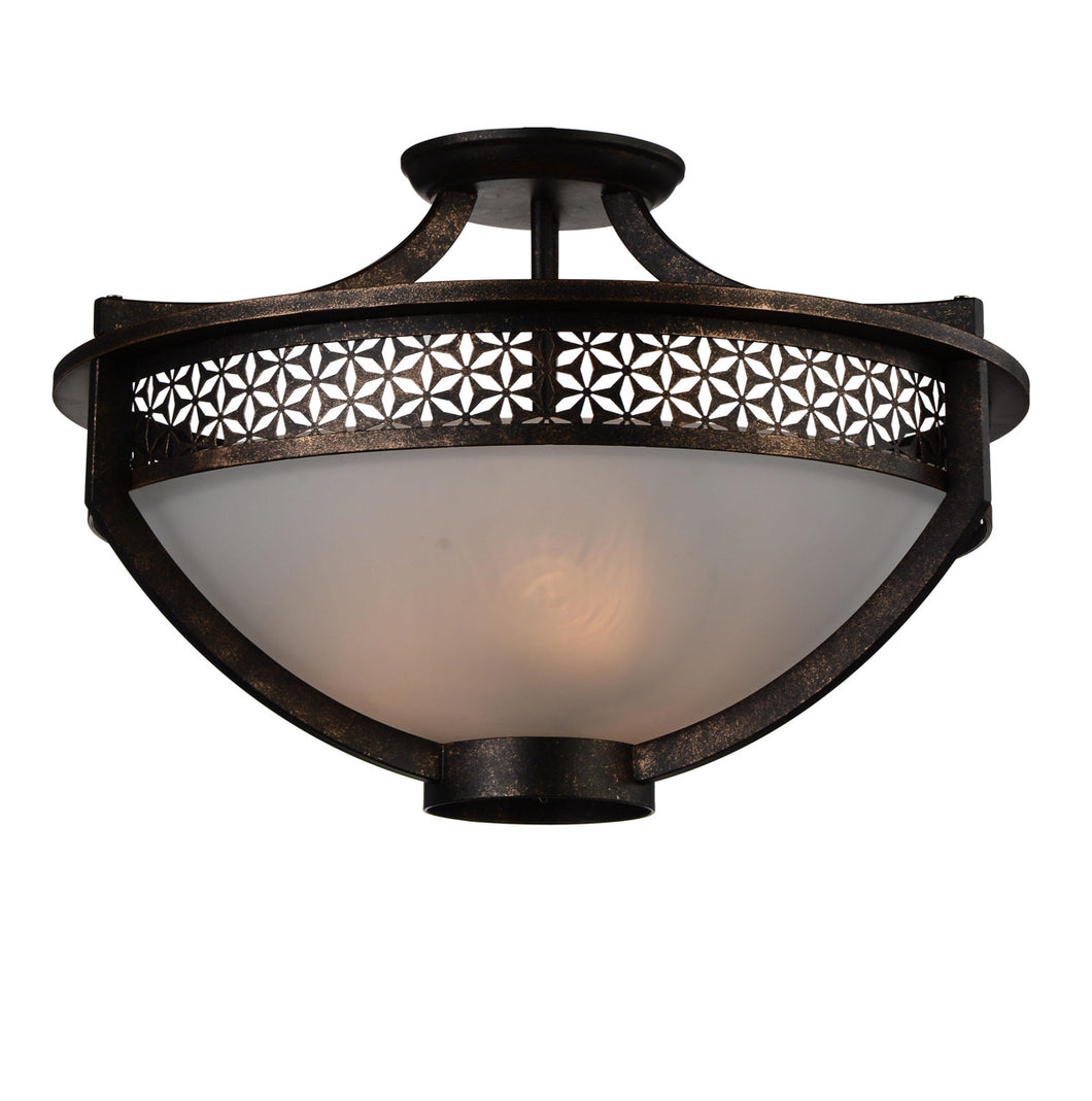3 Light Bowl Flush Mount with Golden Bronze finish