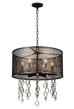 Load image into Gallery viewer, 6 Light Up Chandelier with Golden Bronze finish