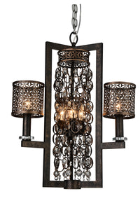 6 Light Up Chandelier with Golden Bronze finish