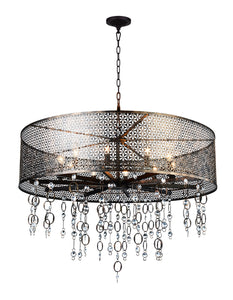 10 Light Up Chandelier with Golden Bronze finish