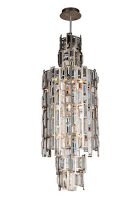 10 Light Down Chandelier with Champagne finish