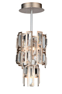 3 Light Down Chandelier with Champagne finish