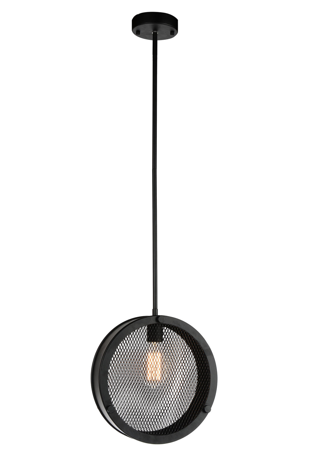 1 Light Up Pendant with Black finish