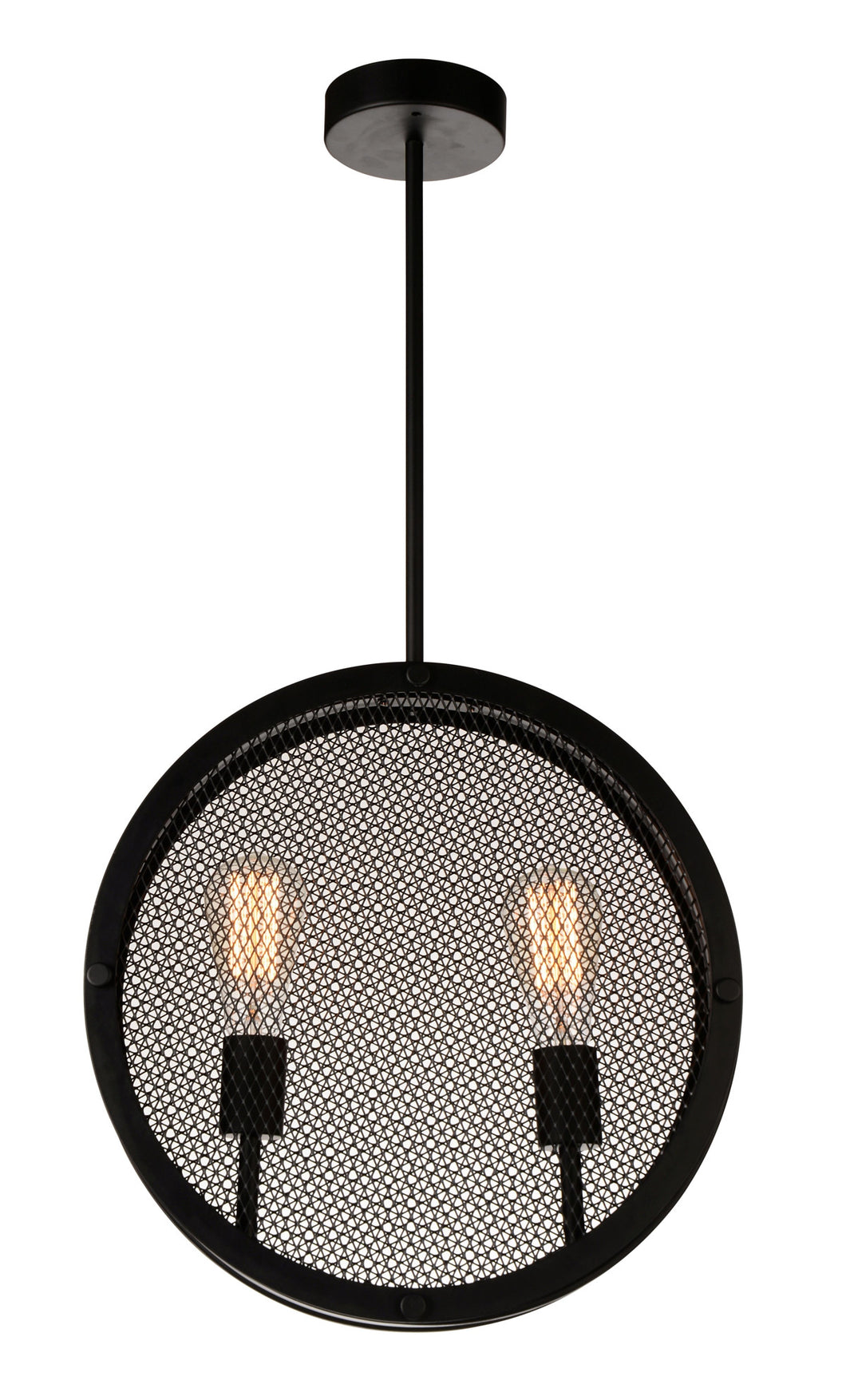 2 Light Up Pendant with Black finish