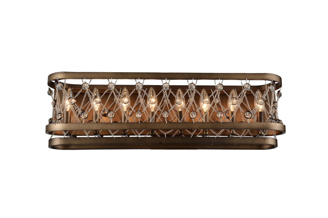 8 Light Wall Sconce with Speckled Bronze finish