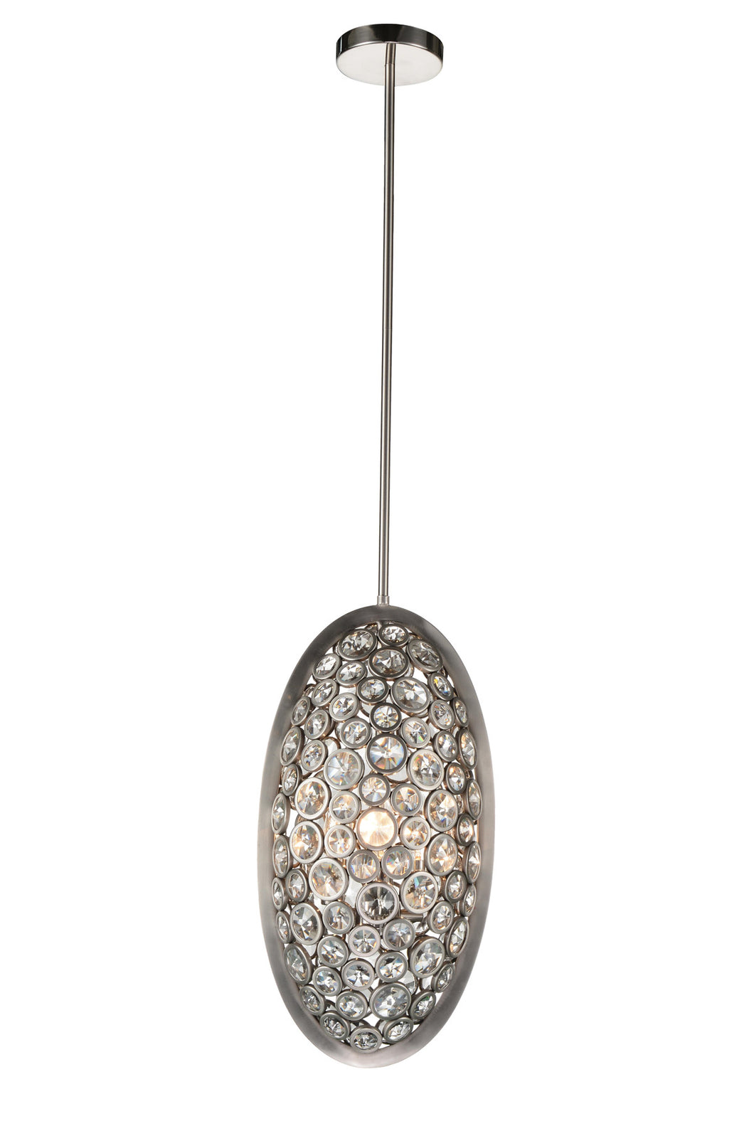 3 Light  Mini Pendant with Satin Nickel finish