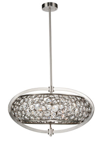 6 Light  Chandelier with Satin Nickel finish